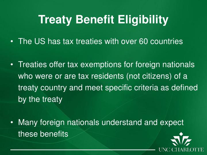 Treaty Benefit Eligibility
