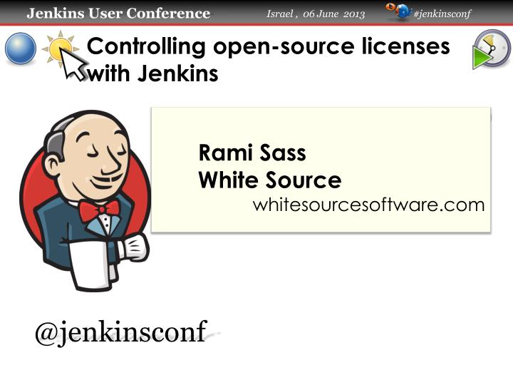 Controlling open source licenses with jenkins