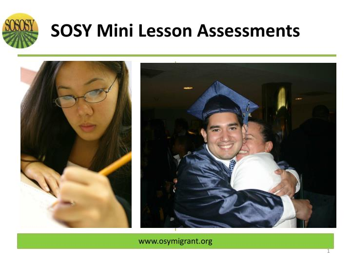So sosy mini lesson assessments