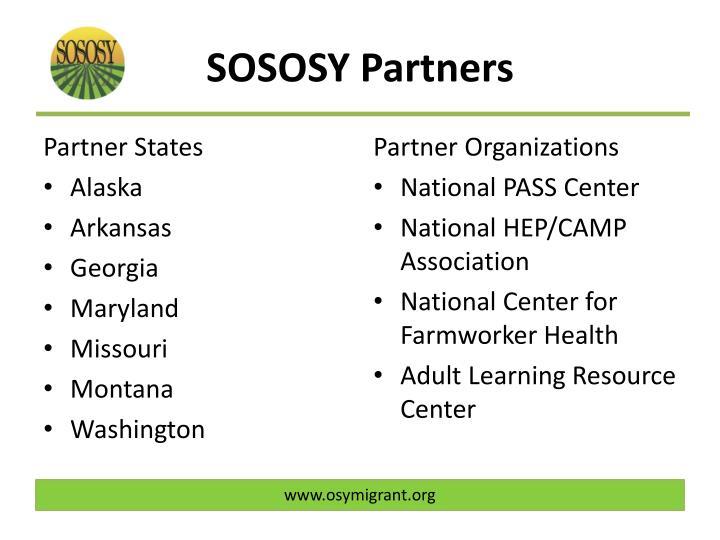 SOSOSY Partners