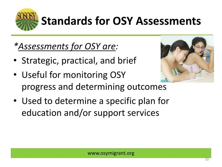 Standards for OSY Assessments
