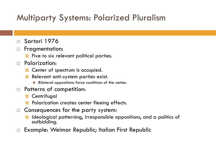Multiparty Systems: Polarized Pluralism