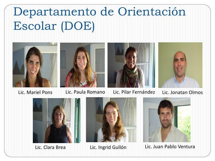 Departamento de Orientación Escolar (DOE)
