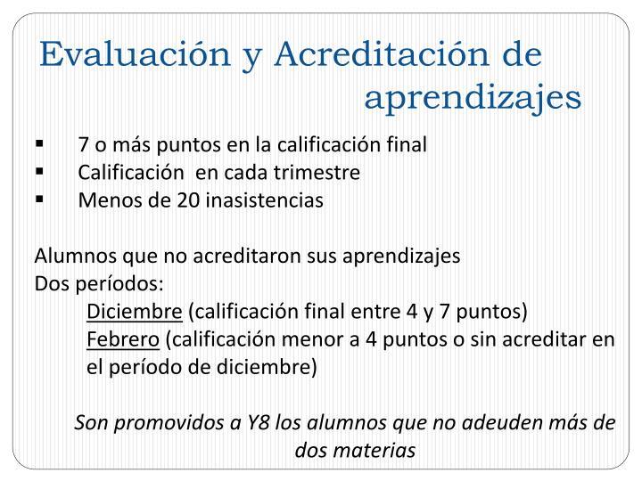 Evaluación y Acreditación de