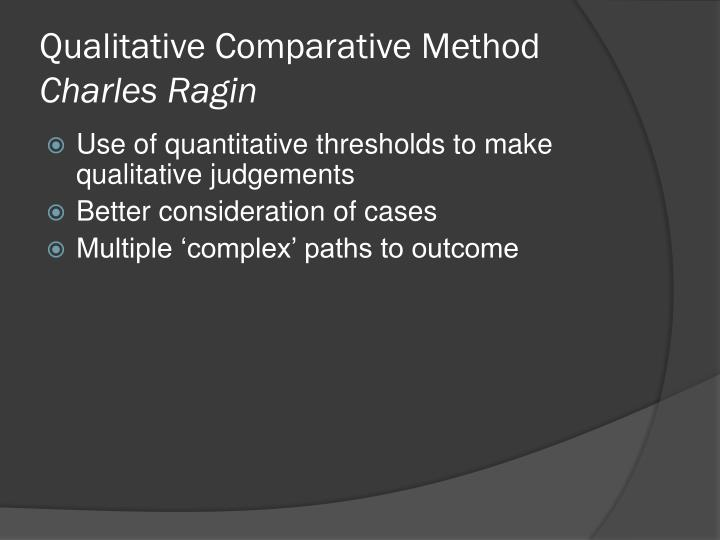 Qualitative Comparative Method