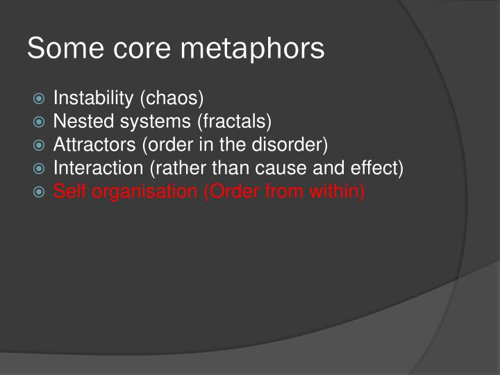 Some core metaphors