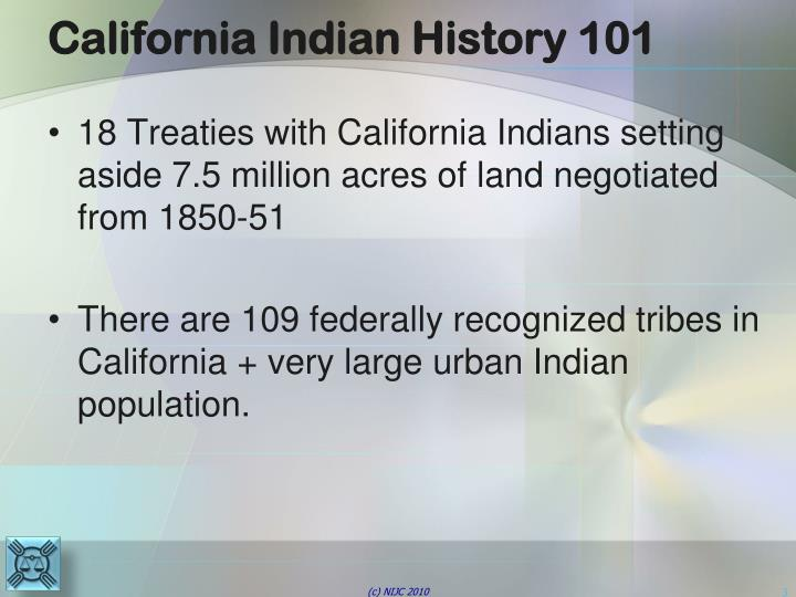 California indian history 101