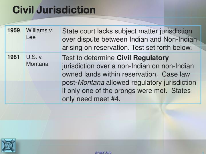 Civil Jurisdiction