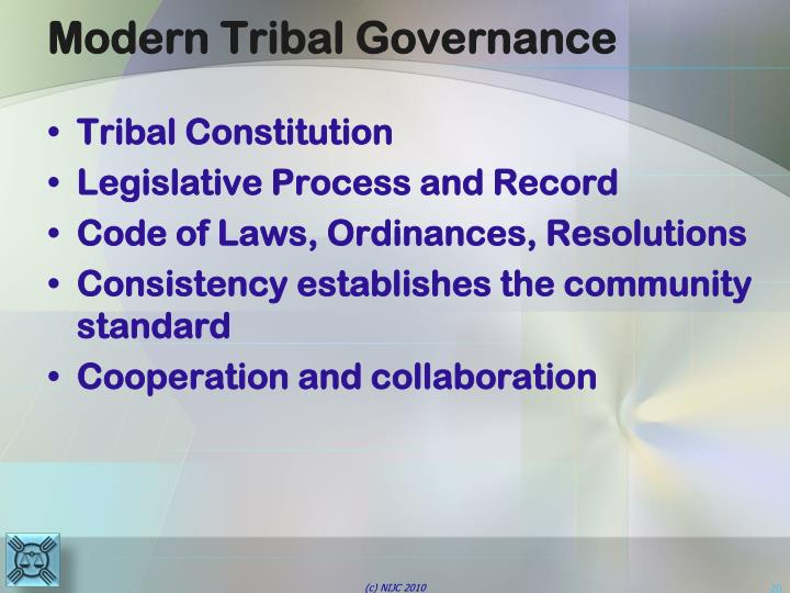 Modern Tribal Governance