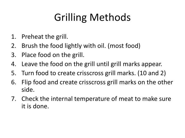 Grilling Methods