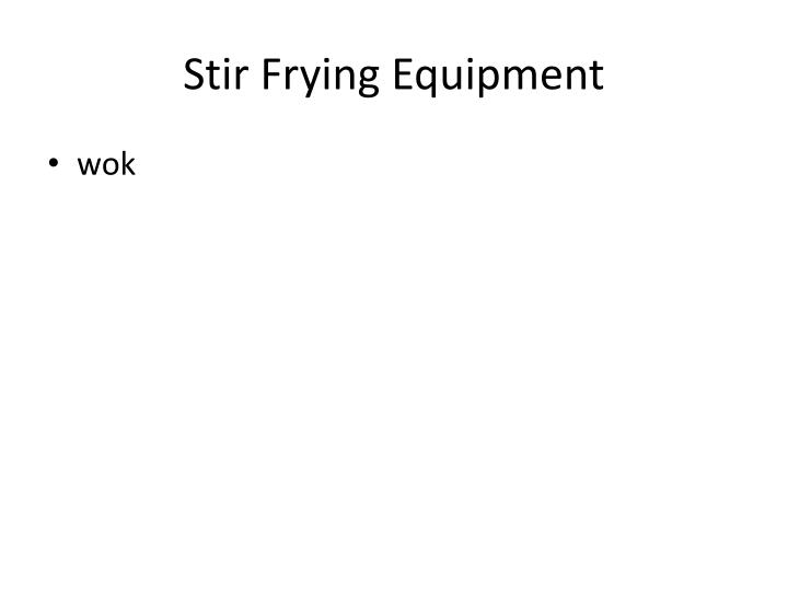 Stir Frying Equipment