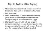 tips to follow after frying