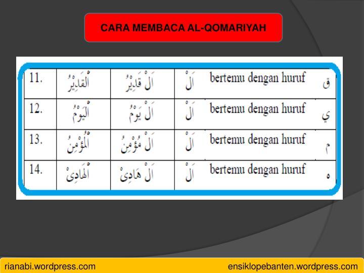 CARA MEMBACA AL-QOMARIYAH