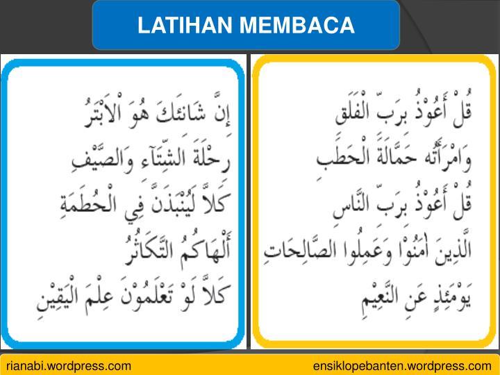 LATIHAN MEMBACA