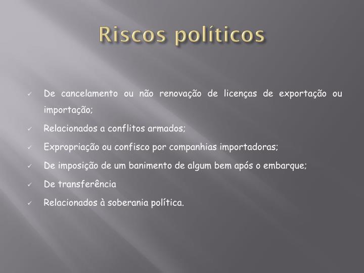 Riscos políticos