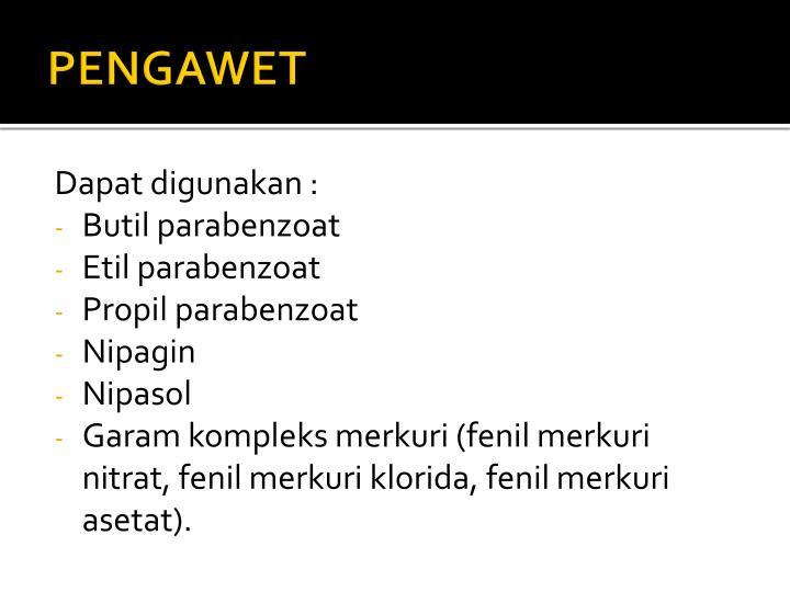PENGAWET