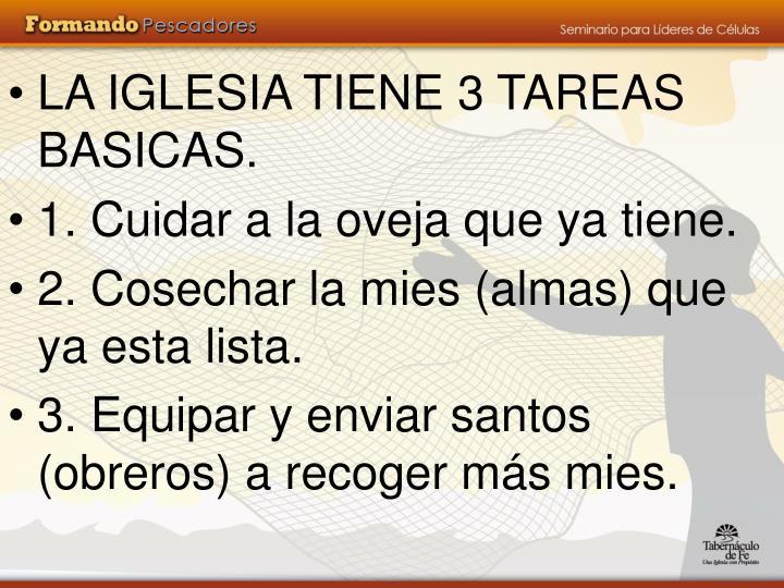 LA IGLESIA TIENE 3 TAREAS BASICAS.