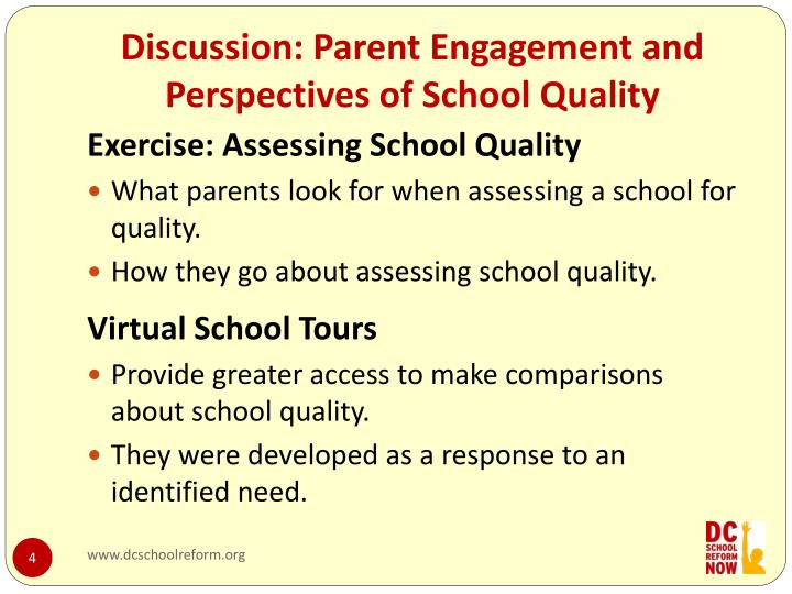 Discussion: Parent Engagement and Perspectives of School Quality