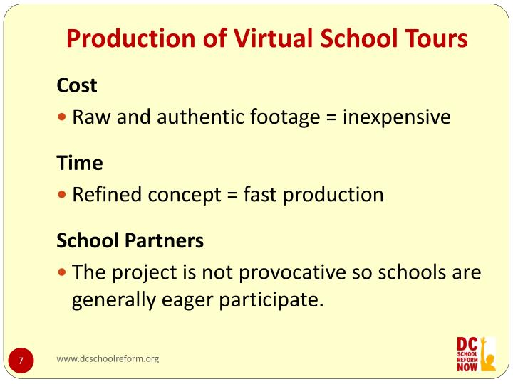 Production of Virtual School Tours