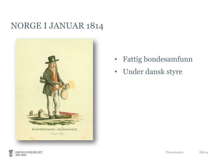 Norge i januar 1814