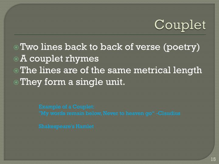 Couplet