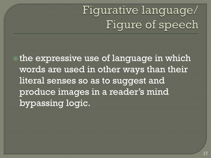 Figurative language/