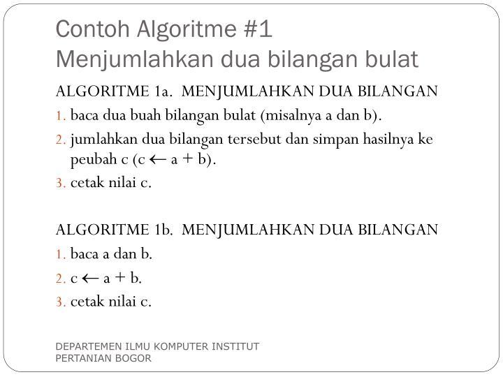 Contoh Algoritme #1