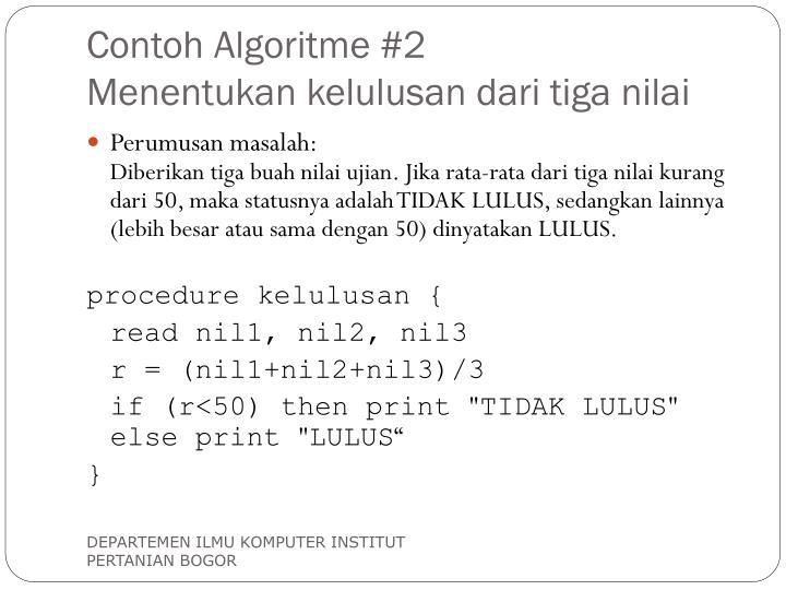 Contoh Algoritme #2
