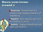 know your terms contd1