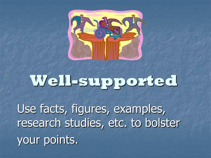 Well-supported