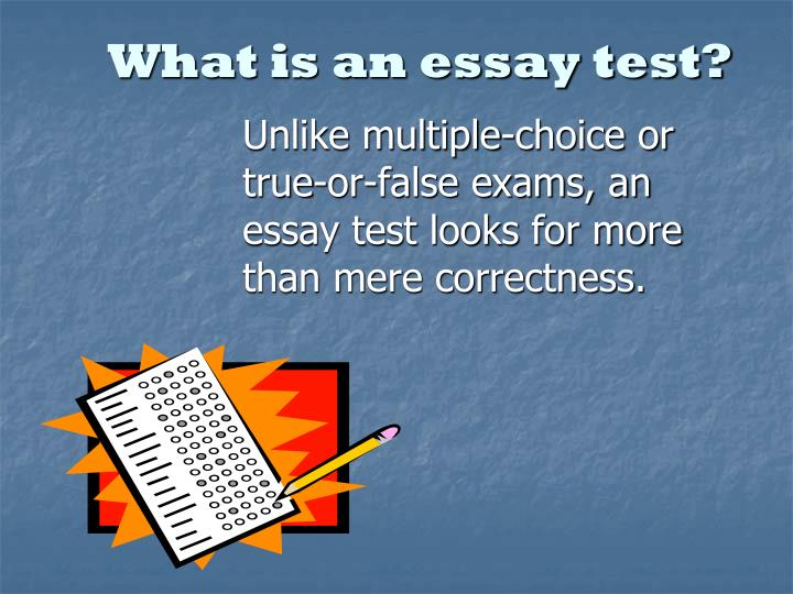 What is an essay test