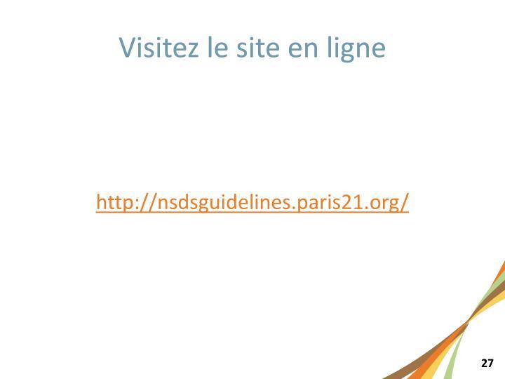 Visitez le site en ligne