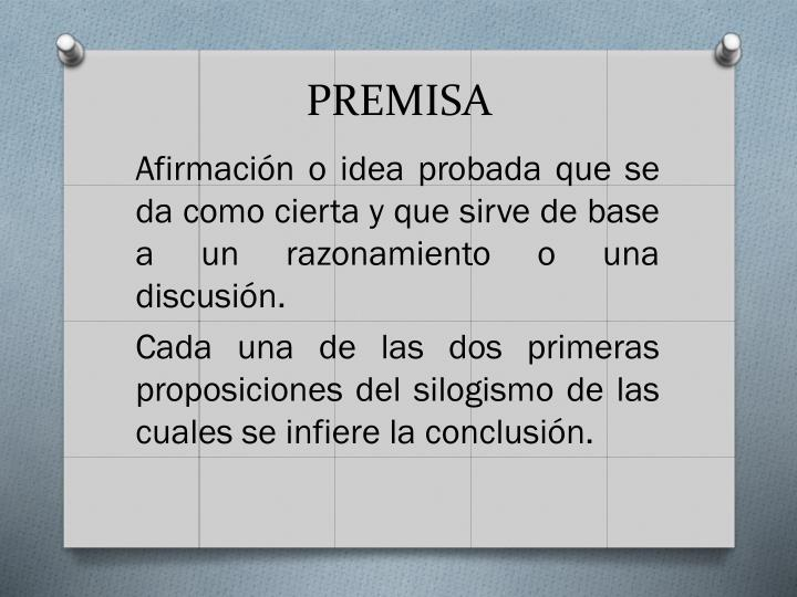 PREMISA