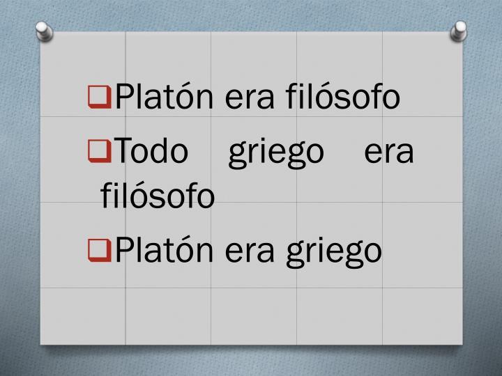 Platón era filósofo