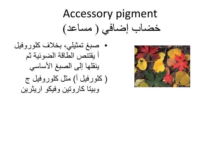 Accessory pigment