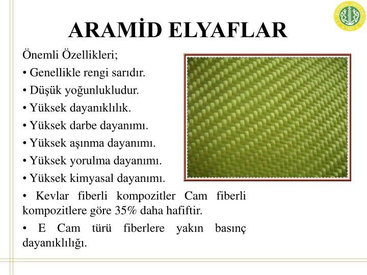 ARAMİD ELYAFLAR