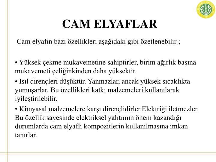 CAM ELYAFLAR