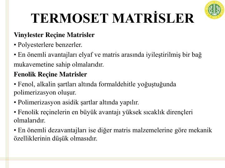 TERMOSET MATRİSLER