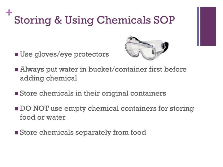 Storing & Using Chemicals SOP