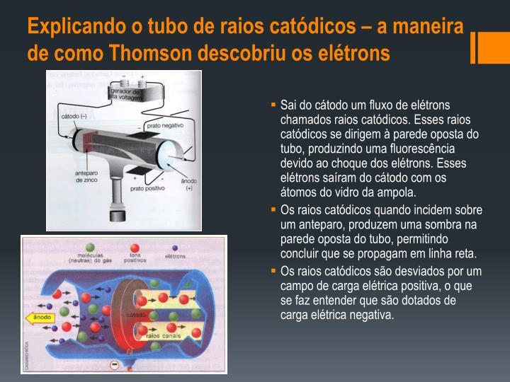 Explicando o tubo de raios catódicos – a maneira de como Thomson descobriu os elétrons