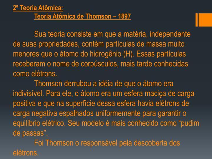 2ª Teoria Atômica: