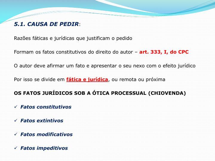 5.1. CAUSA DE PEDIR