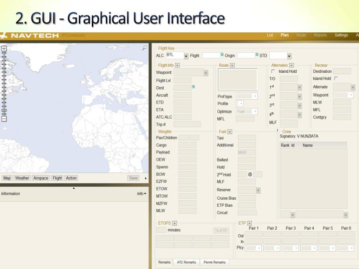 2. GUI - Graphical User Interface