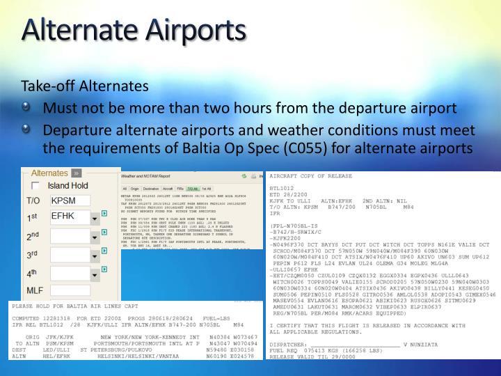 Alternate Airports