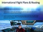 international flight plans routing