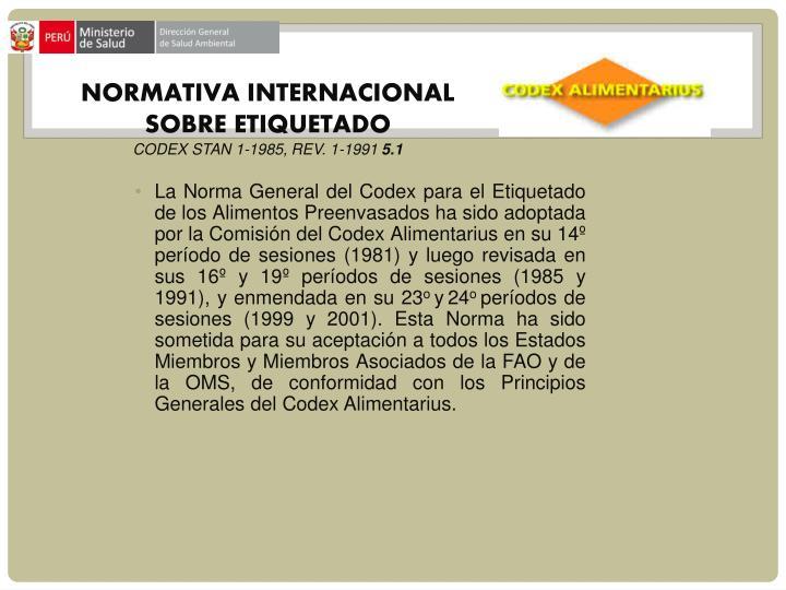 NORMATIVA INTERNACIONAL SOBRE ETIQUETADO