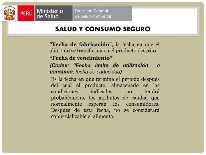 SALUD Y CONSUMO SEGURO