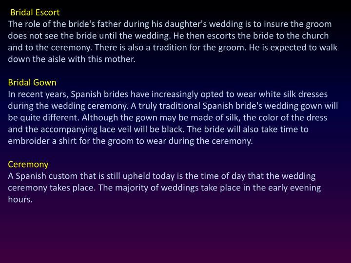 Bridal Escort