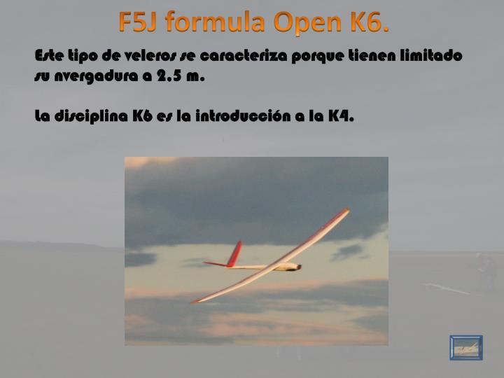 F5J formula Open K6.