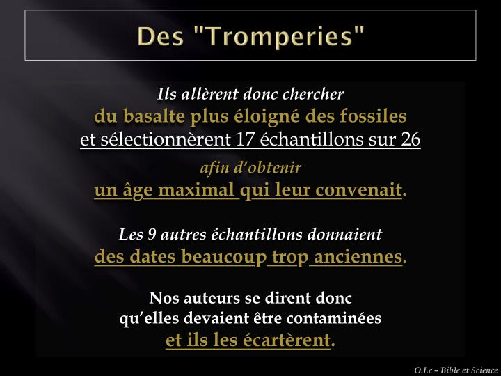 "Des ""Tromperies"""